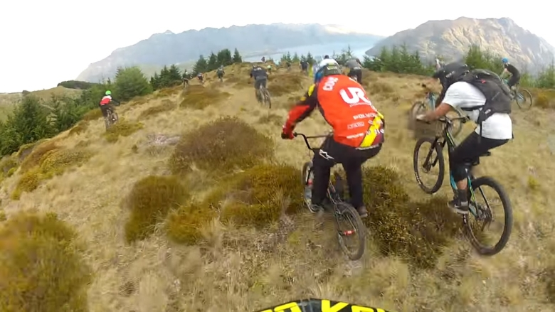 Downhill Mass Start Anarchy and Chaos on a BMX