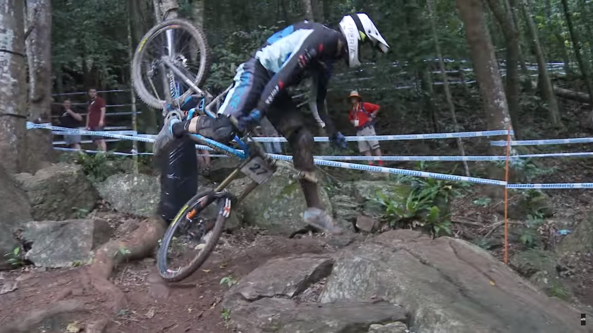Rock Garden Chaos - Trackside at the Cairns World Cup 2016