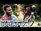 Les Gets Practice Action with Eliot Jackson | UCI DH World Cup 2019