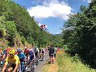 Mountain Biker Jumps the 2019 Tour de France Peleton