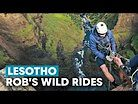 Would You Abseil a 630ft Waterfall? | Rob Warner's Wild Rides w/ Matt Jones in Lesotho