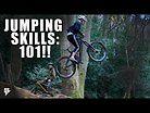 JUMPING SKILLS 101!! THE FUNDAMENTALS OF JUMPING AN MTB. TEACHING BENEY HOW TO DIRT JUMP!