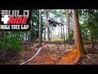 BUILDING AND RIDING A HUGE MTB TREE GAP - NOW WITH PART 2!!