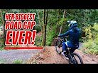 Miranda Goes Even Bigger and Achieves Her Goal of Hitting A HUGE ROADGAP!