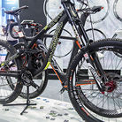 Commencal DH bike at the Novatec Wheel booth.