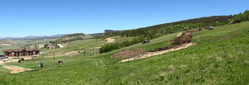 Panorama of the 2010 US National Champs 4X Course Construction - solvista bike park - Mountain Biking Pictures - Vital MTB