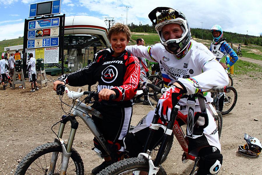 Steve Peat and Austin - solvista bike park - Mountain Biking Pictures - Vital MTB