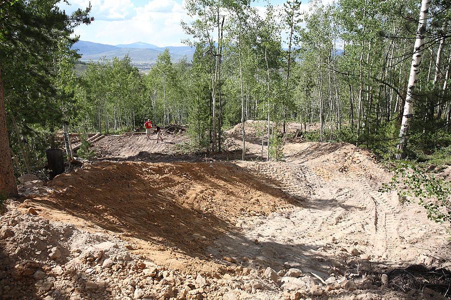 Landing of right handed hip - solvista bike park - Mountain Biking Pictures - Vital MTB