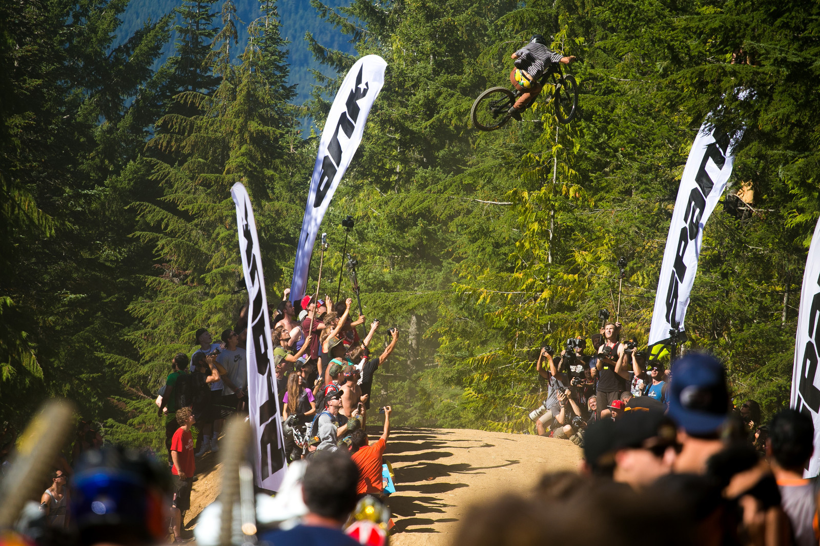 Can you boost like this on Crabapple Hits? If you just want to watch, Crankworx Whip Off World Champs is a blast.