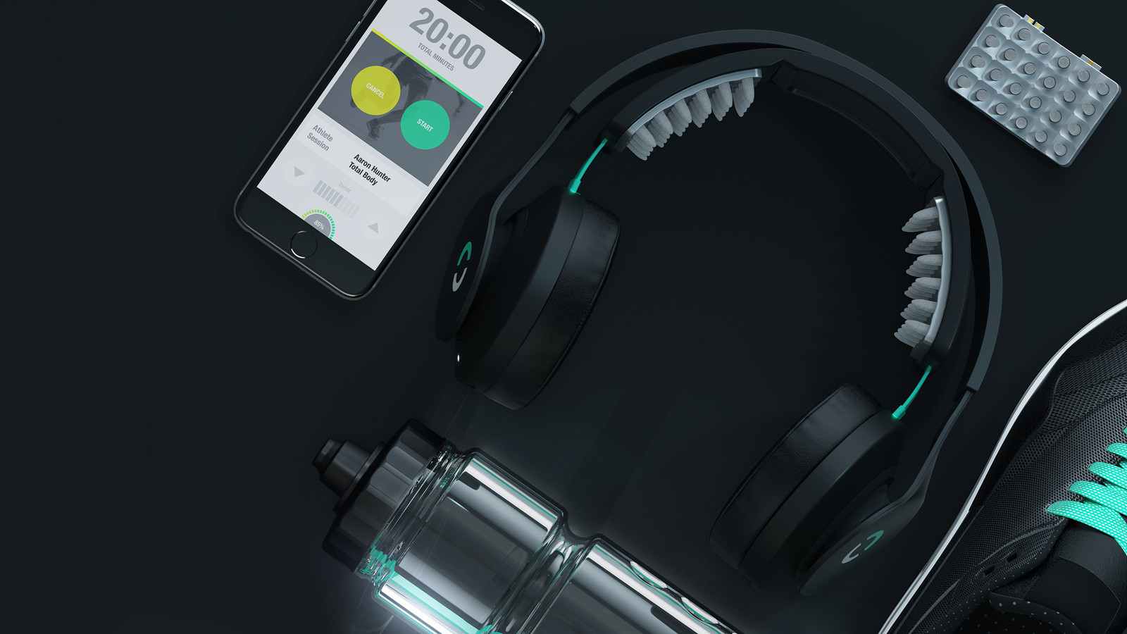 Halo Sport connects to your phone via Bluetooth using the Halo Sport application.