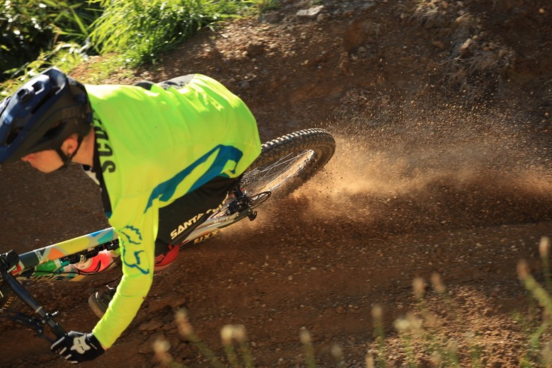 Pro rider testing with Mark Scott...